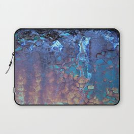 Waterfall. Rustic & crumby paint. Laptop Sleeve