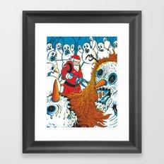 Santa's Last Stand Framed Art Print