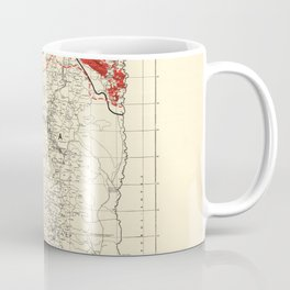 Map of Palestine Index to Villages & Settlements 1940's Coffee Mug