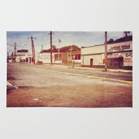 memphis Area & Throw Rugs featuring Memphis Street by wendygray