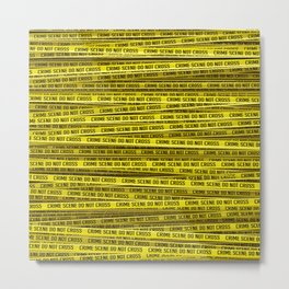 Crime scene / 3D render of endless crime scene tape Metal Print