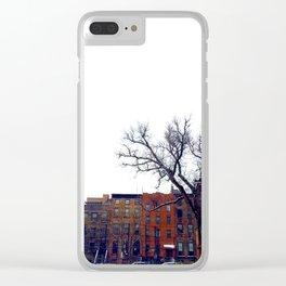 Brooklyn in December Clear iPhone Case