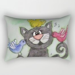 Good friends treat you like family. Rectangular Pillow
