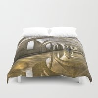 winchester Duvet Covers featuring Winchester Cathedral Crypt by Alice Gosling