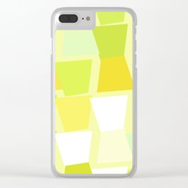 Tiptoe Through the Trapezoids Geometric Abstract Clear iPhone Case
