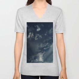 Cloud and sky 12 -cloud, sky, blue, positive,optimism Unisex V-Neck