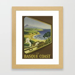 The Basque Coast Framed Art Print