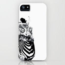 Zebrowl iPhone Case