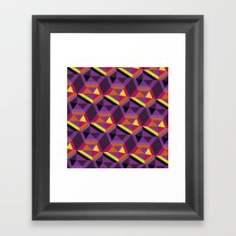 Chasing purple Framed Art Print