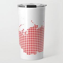 Red Dot Map of Russia Travel Mug