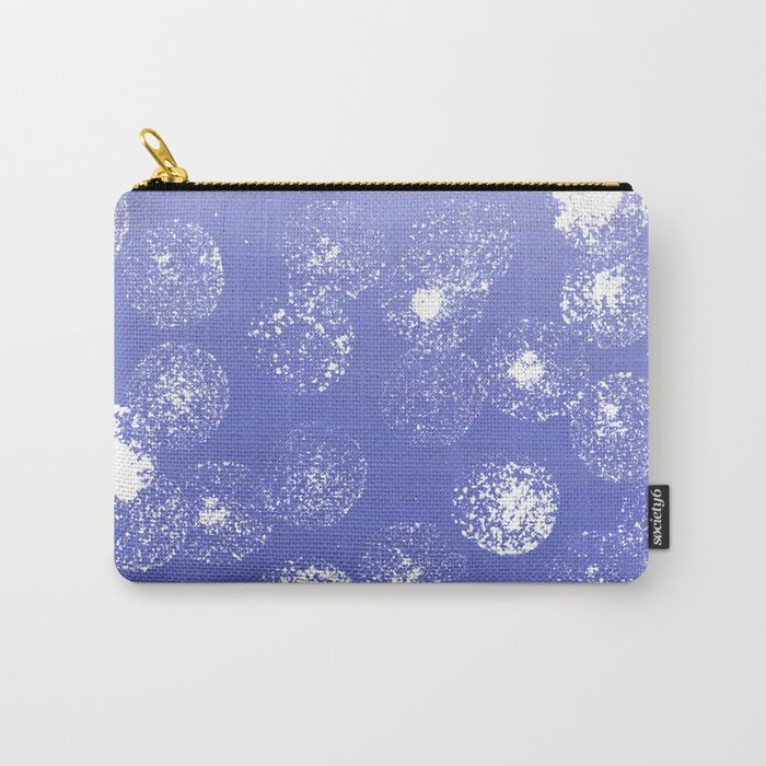 Abstract hand painted violet white watercolor paint polka dots Carry-All Pouch