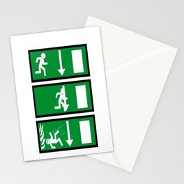 Fire Exit Funny. Stationery Cards