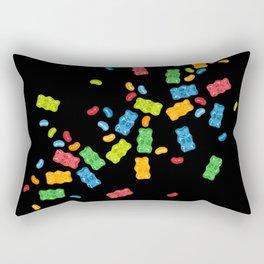Jelly Beans & Gummy Bears Explosion Rectangular Pillow