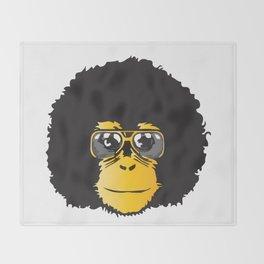 Monkey Retro Throw Blanket