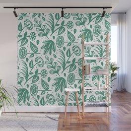 Papercut Plants Wall Mural