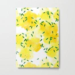 Lemons Explosion Metal Print
