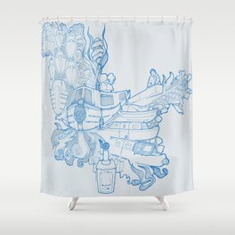 Narrowboating Shower Curtain