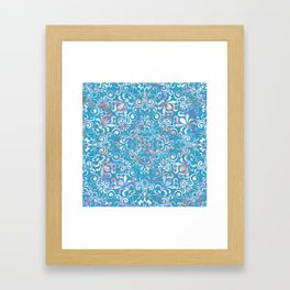 Summer Sea Mandala Framed Art Print
