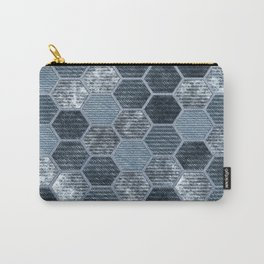 Abstract Jeans Carry-All Pouch