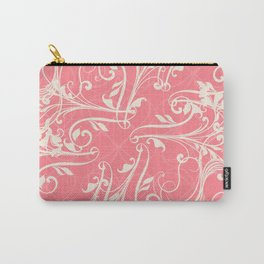 Pink swirls. Vector floral deisgn Carry-All Pouch