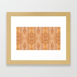 Olive wood surface texture abstract Framed Art Print