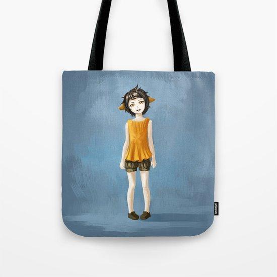 Girl in shorts Tote Bag