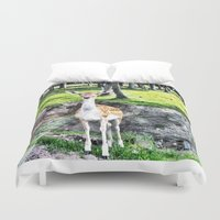 bambi Duvet Covers featuring Bambi by The Miniatures