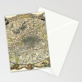 Map Of London 1837 Stationery Cards