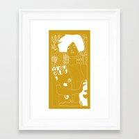 gustav klimt Framed Art Prints featuring Gustav Klimt by Ian Cy