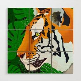 Jungle Tiger Wood Wall Art