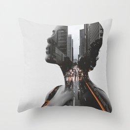 City 2 Throw Pillow