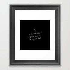 beauty of a good heart Framed Art Print
