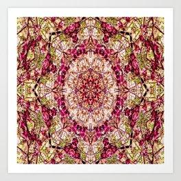 The Red Bud Mandala... Art Print