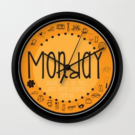 Monday Vibes Wall Clock