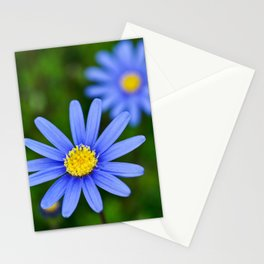 Blue Flower, Yellow Heart Stationery Cards