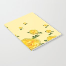 RAINING YELLOW ROSES COLLAGE ART Notebook