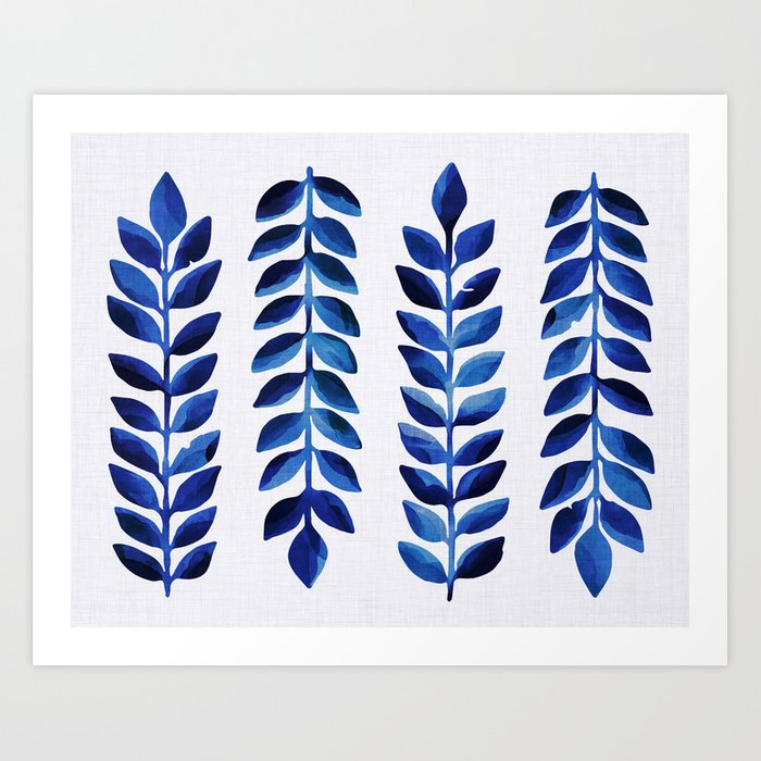 Tropical Indigo Art Print