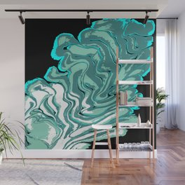 Ripples with Black Background 02 Wall Mural
