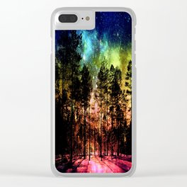 One Magical Night ( Rainbow ) Clear iPhone Case