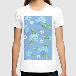 Myosotis pattern T-shirt