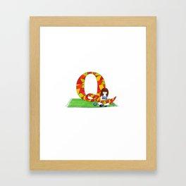 q is for quilt Framed Art Print