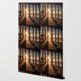 Through the Blinds sun bursts through Avila Pier Avila Beach California Wallpaper
