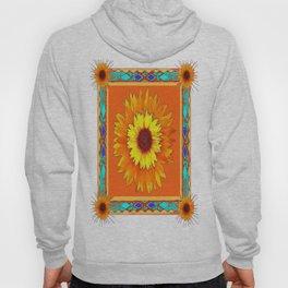 Southwestern Sun Flowers Abstract Design Hoody
