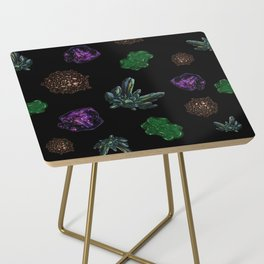 Crystals on Scratchboard Side Table