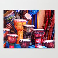 drums Canvas Prints featuring Drums by UKTiger