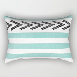 ARROW STRIPE {TEAL} Rectangular Pillow