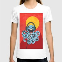 squid T-shirts featuring Squid by Janice