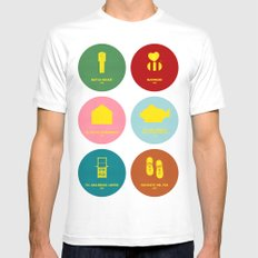 Wes Anderson Mens Fitted Tee White MEDIUM