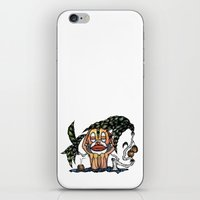 bali iPhone & iPod Skins featuring BALI MONKEY by ISSO