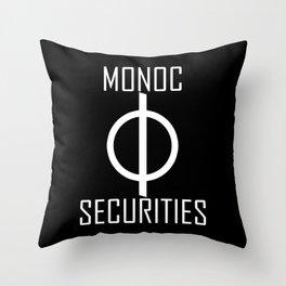 Monoc Securities Throw Pillow